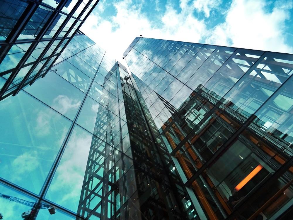 hoog gebouw wolkenkrabbers